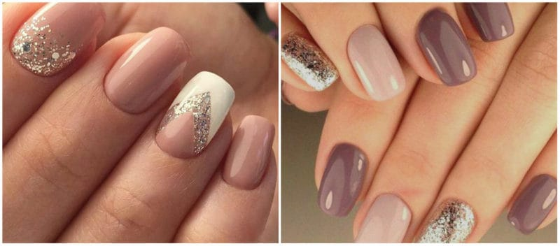NAIL ART 2020: Nude Nail Art with glitters