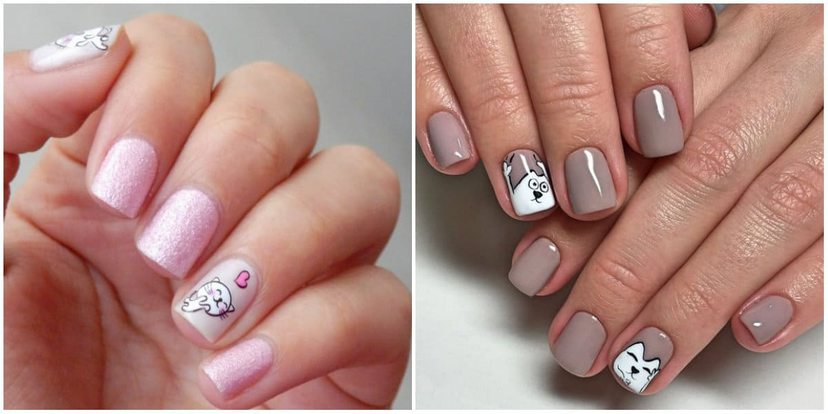 Nail Designs 2019: Nail Design with cute drawings