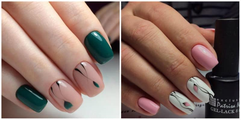 Nail Designs 2019: Gentle nail design: tulips