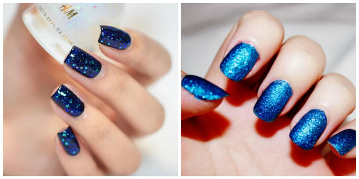 Popular Nails 2019: Nail design with glitters