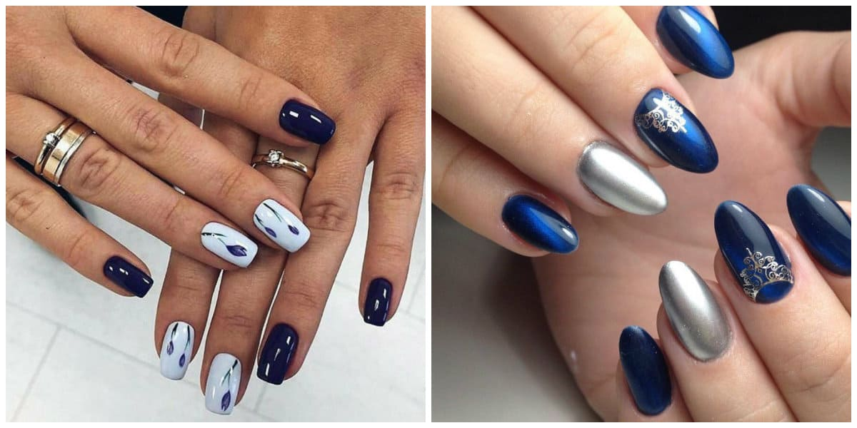 Popular Nails 2019: Nail design with drawings and ornaments