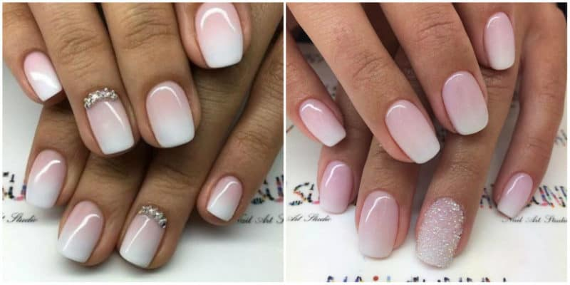 Wedding Nails 2019: Wedding Ombre Nails Design