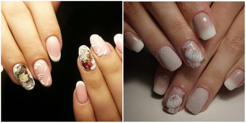 Wedding Nails 2019: Nail design with flowers