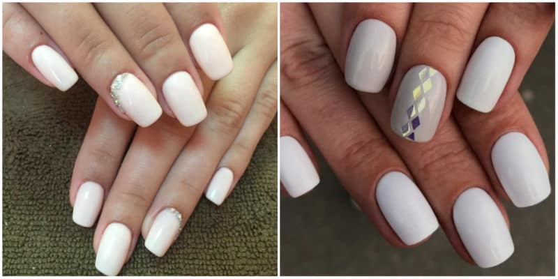 Wedding Nails 2019: Nail Design with rhinestones and holographic nails