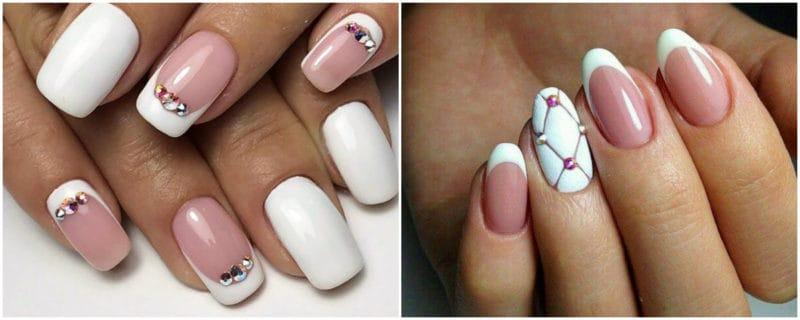 Wedding Nails 2019: Nail Design with Rhinestones