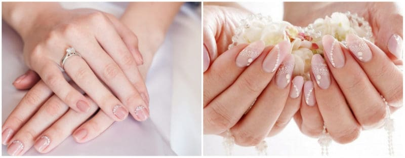 Wedding Nails 2019: Gentle wedding nail design