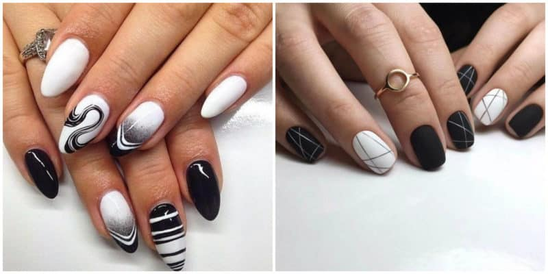 Fall nails 2020: Black and white nail design