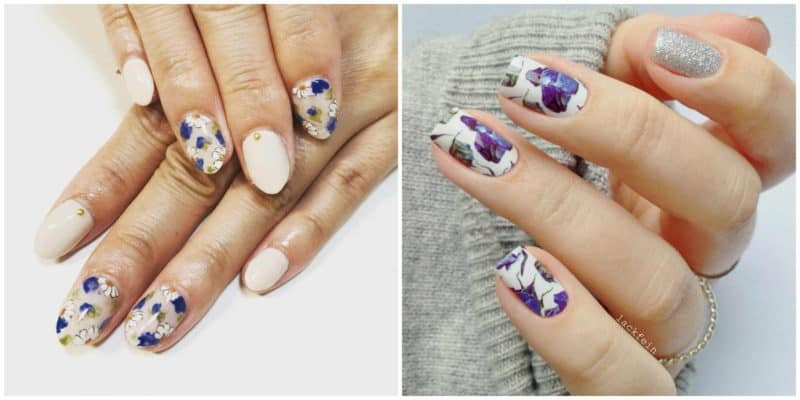 FINGERNAIL DESIGNS 2019: Nail design with flowery applications