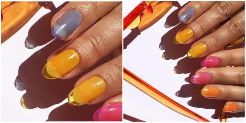 Latest nail trends 2020: Jelly nail design in different colors