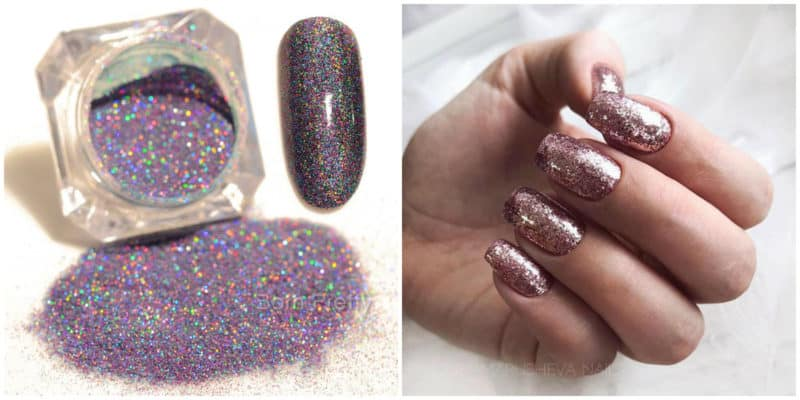 Latest nail trends 2019: Glitter nail design idea