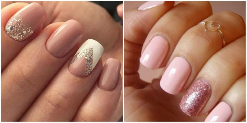Nail art ideas 2020: Nail design with nude colors