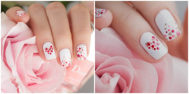 Nail art ideas 2020: Dotted nail design