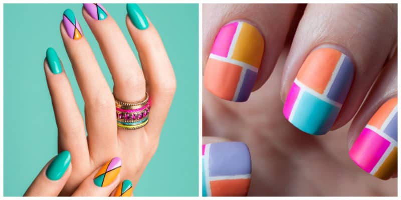 Nail art ideas 2020: Colorful nail design