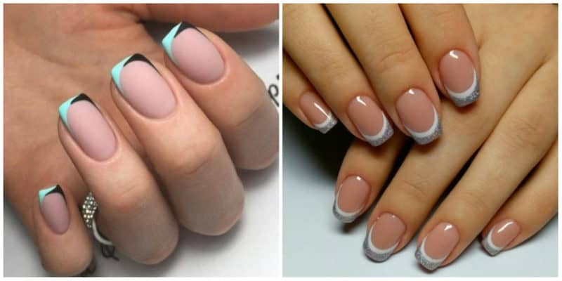 Nail designs for short nails 2019: French nail design without cuticles