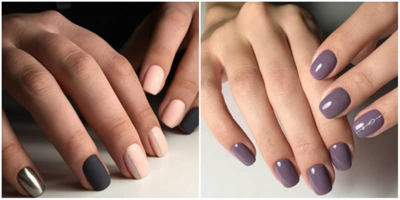 Nail designs for short nails 2019: Nail design with nude colors