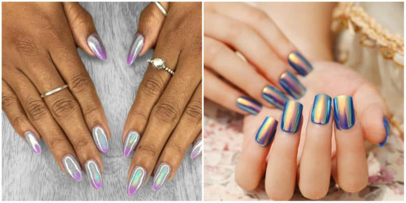 New nail trends 2019: Holographic nail design