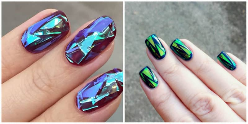 New nail trends 2019: Glass nail design