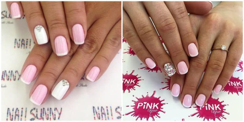New nail trends 2019: Baby pink nail design: French nail design