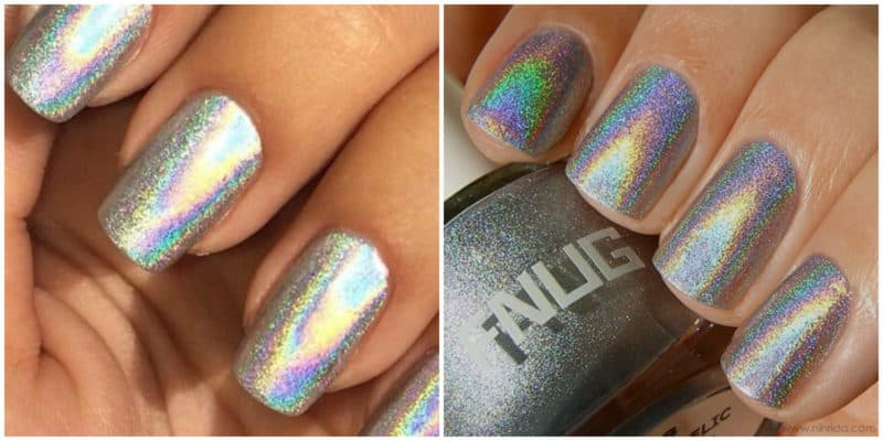 New nail trends 2019: Holographic nails