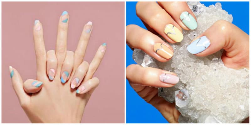 New nail trends 2019: Nail design with several colors