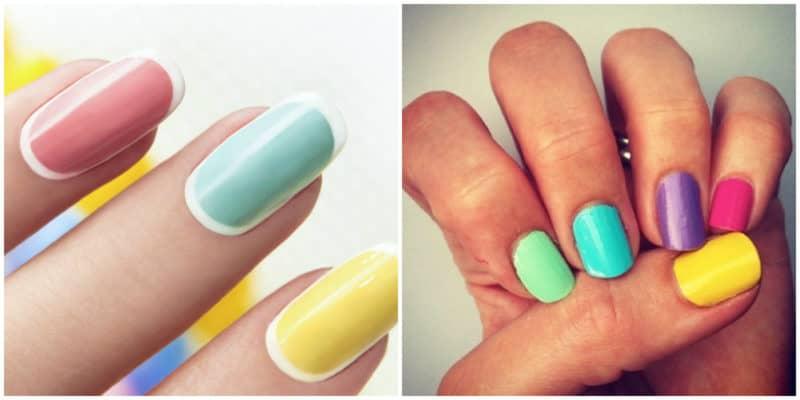 Spring nail colors 2020: Bright-colored nail design