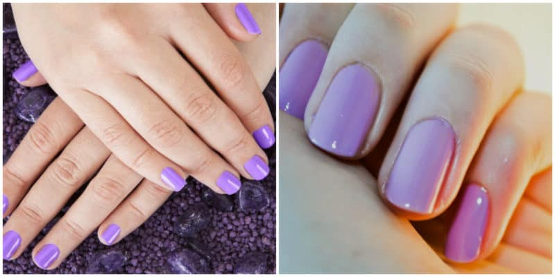 Spring nail colors 2020: Purple nail color