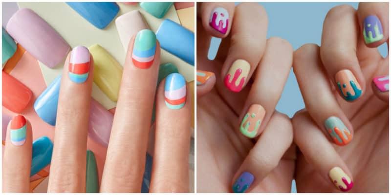 Spring nail colors 2020: Colorful nail design