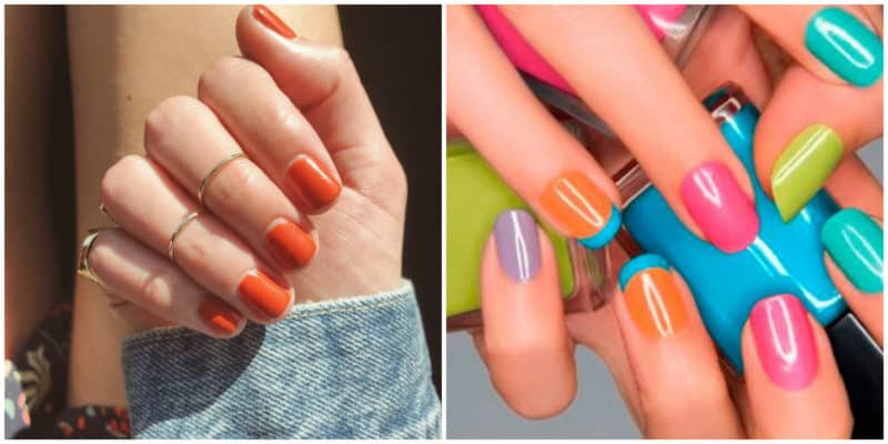 Spring nail colors 2020: Orange nail color ideas