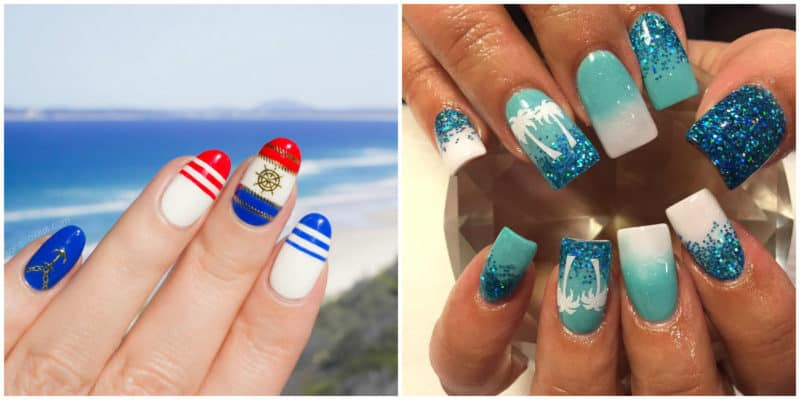 Summer nail art 2019: Beach themed nail designs