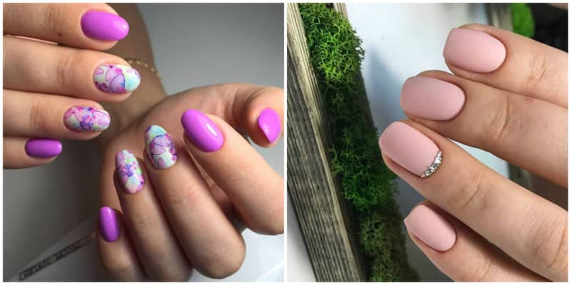 Summer nail art 2019: nail design with pastel color hues