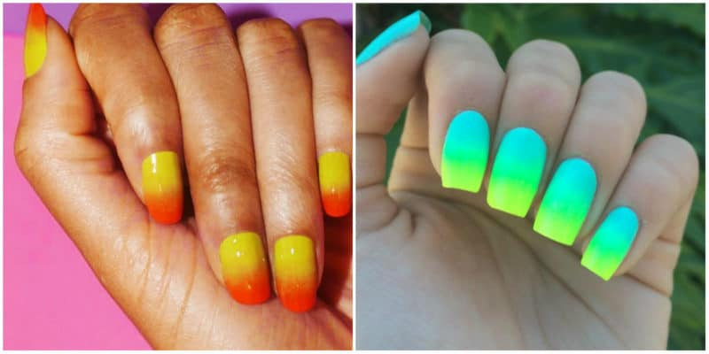 Summer nail art 2019: Colorful ombre nail style