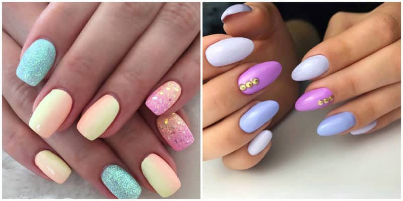 Summer nail art 2019: Multi-color summer nail design