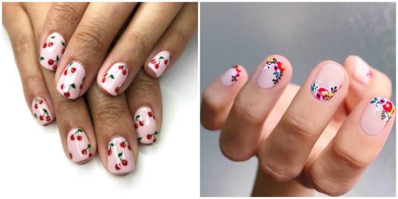 Summer nail art 2019: Cherry nail design