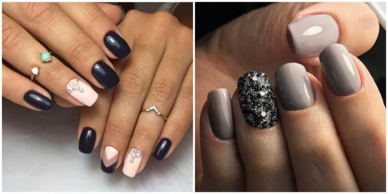 Winter nail colors 2020: Nail design with beads