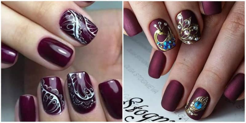 FINGERNAIL DESIGNS 2019: Nail design with ornaments