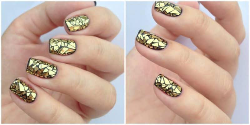 Nail trends 2019: Gold nail design