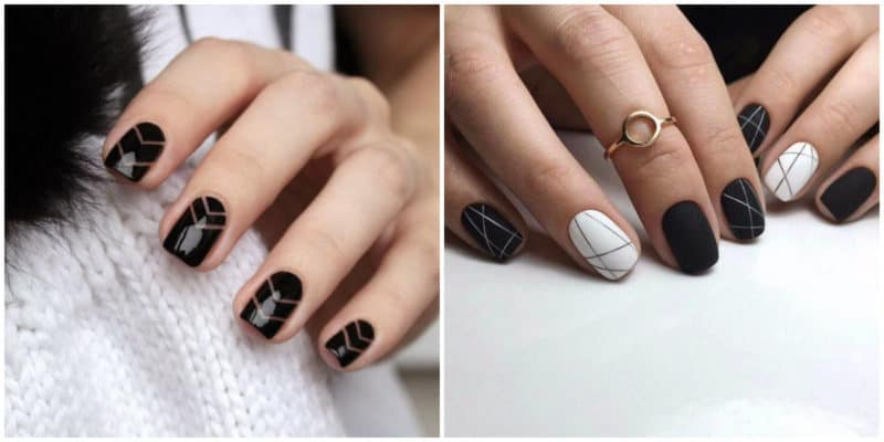 Nail trends 2019: Classic black nail design
