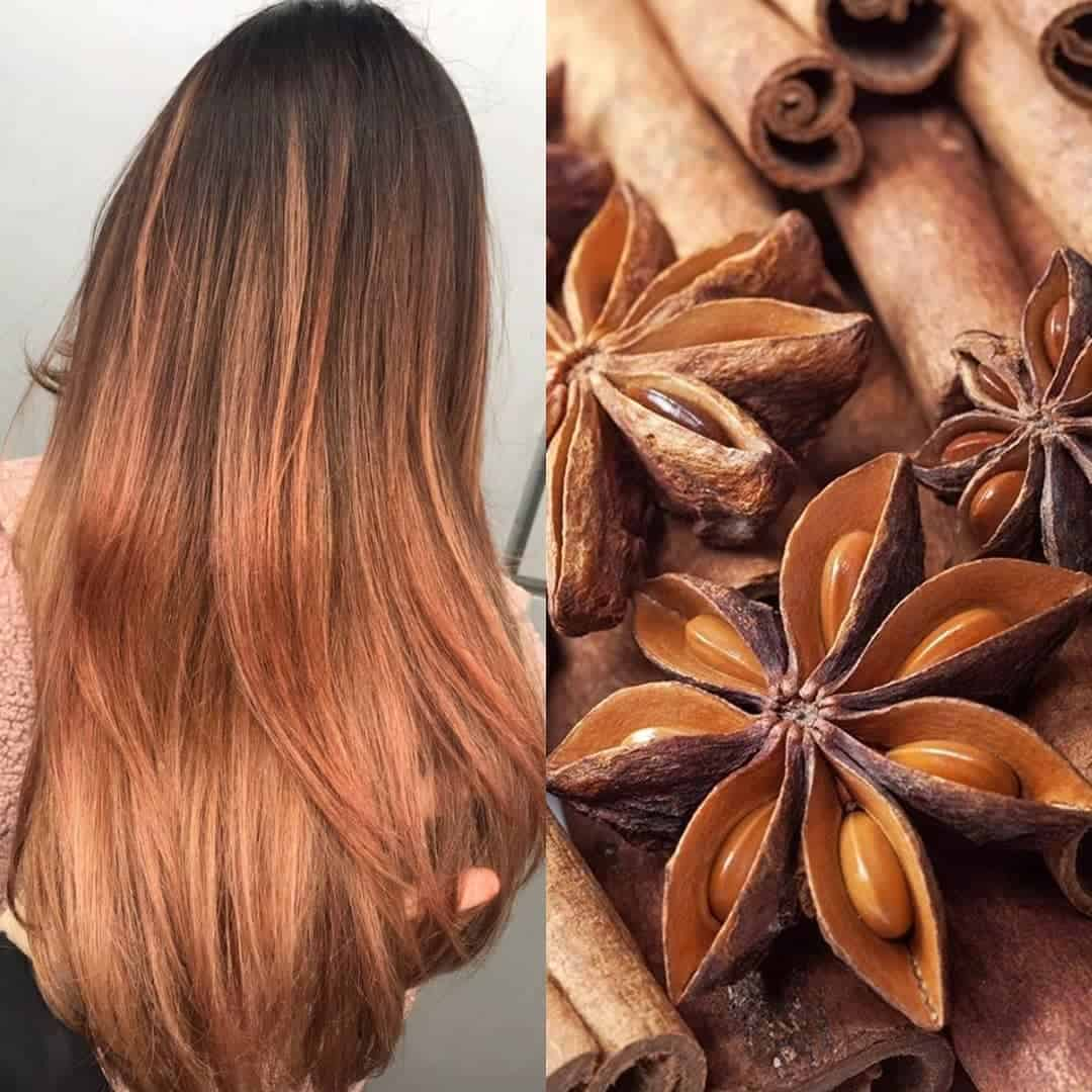 hair color 2020 trends cinnamon