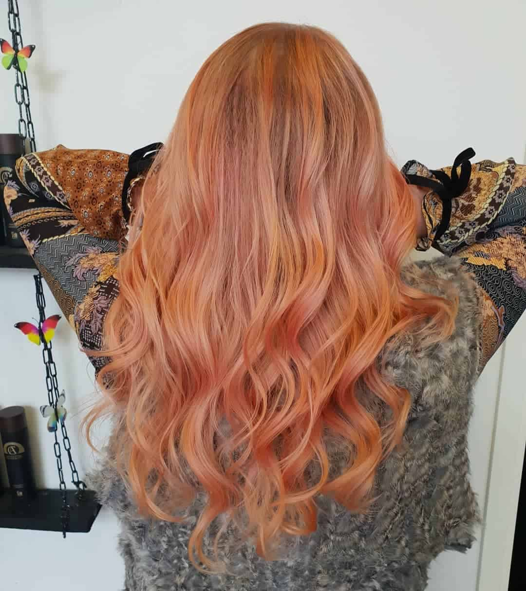 hair color 2020 trends golden rose