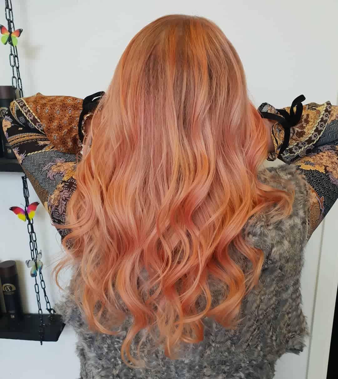 hair color 2021 trends golden rose