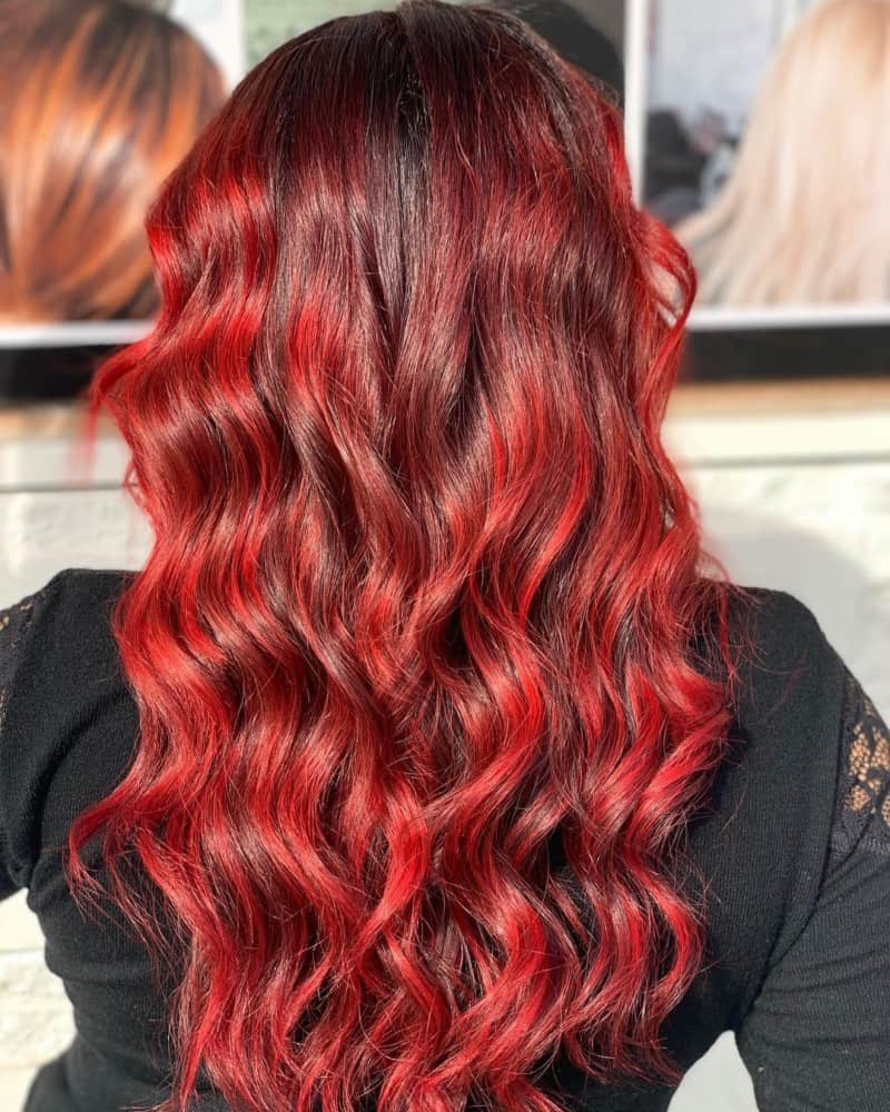 hair color trends 2021 red