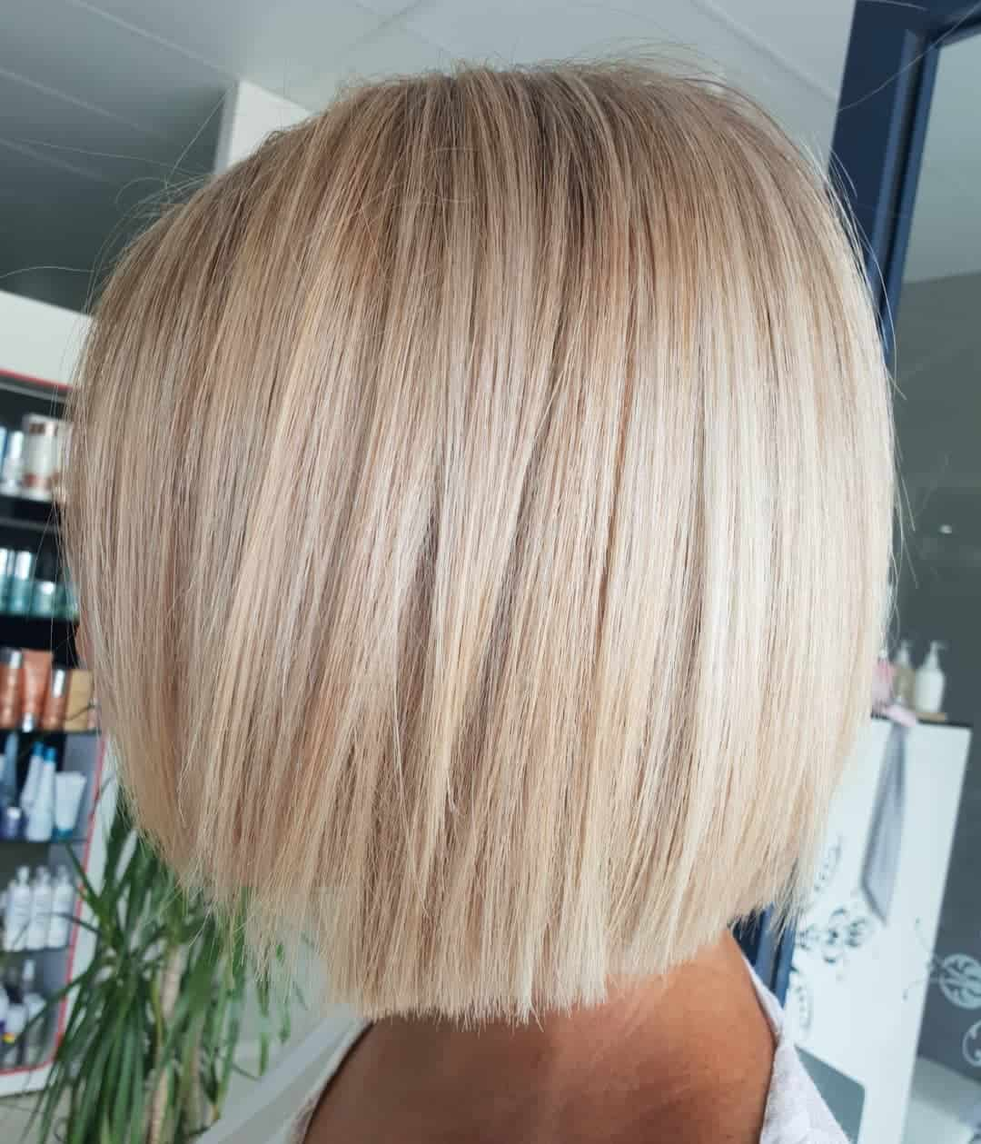 medium haircuts 2021 straight bob