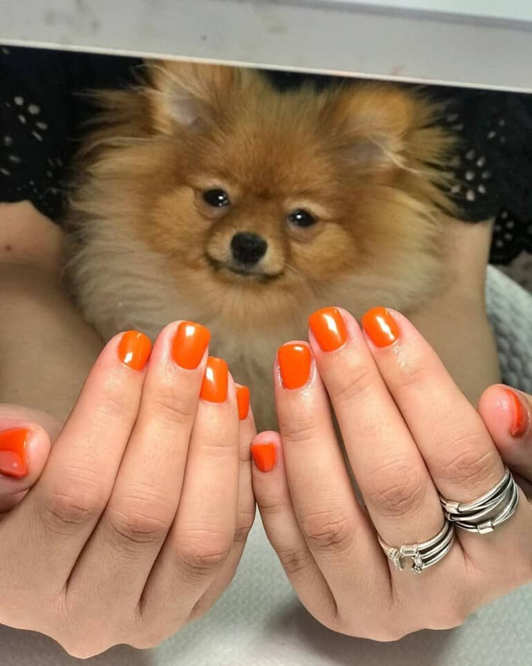 Juicy carrot nail polish