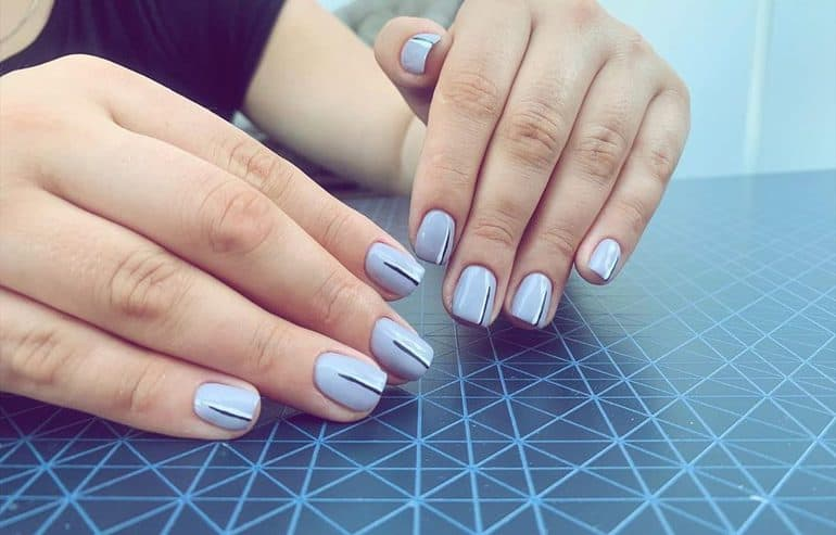 Gray as nail polish 2020 winter color