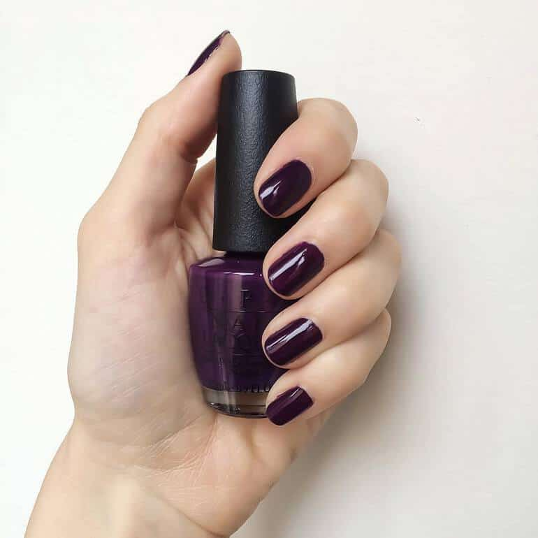 Purple blossom OPI nail polish 2020