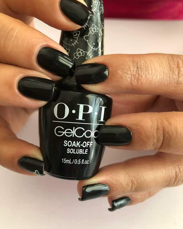 OPI gel colors 2020: black