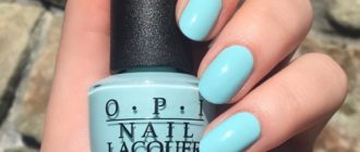 OPI fall 2020 colors: sky blue