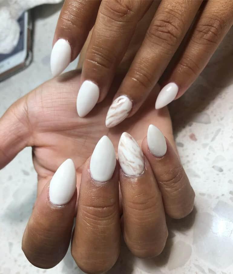 White among the popular nail polish colors 2022