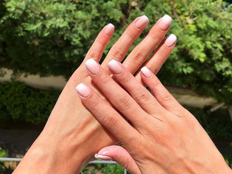 Ombre short nails design 2020